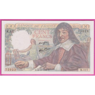 100 Francs Descartes...