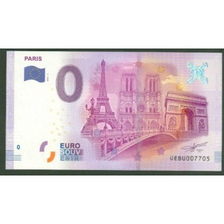 75 Paris 0 Euro Billet...