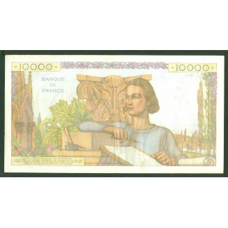 10000 Francs Etude 3-3-1955...
