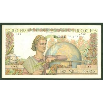 10000 Francs Etude M 7640