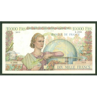 10000 Francs Etude R 2998