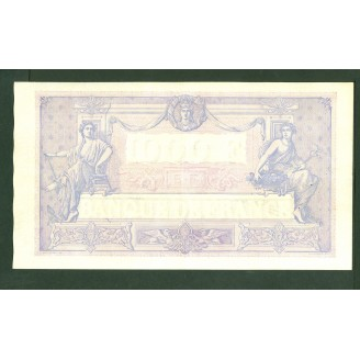 1000 Francs Bleu Et Rose...