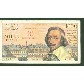 10 NF sur 1000 Francs...