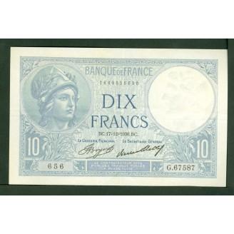 10 Francs Minerve...
