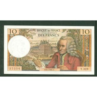 10 Francs Voltaire 6-4-1967...