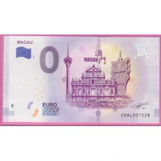 Macao Macau Billet 0 Euro...