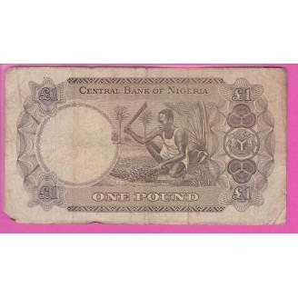 Nigeria 1 Pound P.12a B 1968