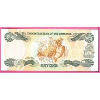 Bahamas P.42 1/2 Dollar...