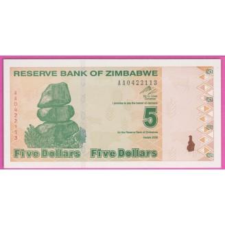 Zimbabwe P.93 Neuf UNC 5...