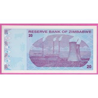 Zimbabwe P.95 Neuf UNC 20...