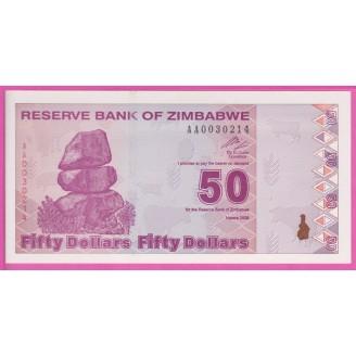 Zimbabwe P.96 Neuf UNC 50...