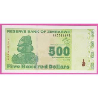 Zimbabwe P.98 Neuf UNC 500...