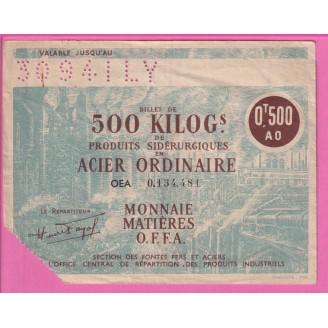 500 Kilos Acier Ordinaire...